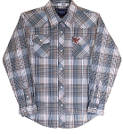 Cowboy Hardware Brown Plaid Long Sleeve Snap