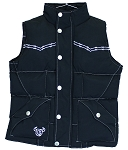 Cowboy Hardware Puffy Nylon Vest with Bucking Bronc