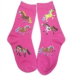 Youth Puff Ponies Crew Socks