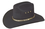 Black Faux Felt Cowboy Hat - Adults