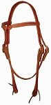 Harness Leather Knotted, Browband Headstall