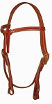 Harness Leather, Knotted, Browband Headstall