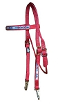 Nylon Browband Headstall with Southwest Overlay-Snaps