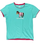 I Don't Do Mornings Horse Women's PJ Tee