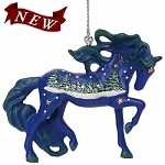 Trail of Painted Ponies-White Christmas Ornament