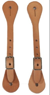 Harness Leather Youth Spur Straps w/Nickle Plate Hardware